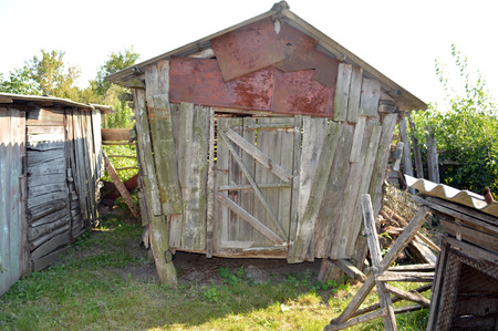 wry: downed a wry barn boards patching sheet metal