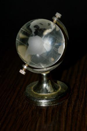 crystal background: crystal globe on a dark background