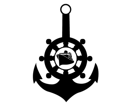 sea anchor on a white background Vector