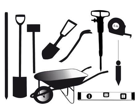 tools for building on a white background