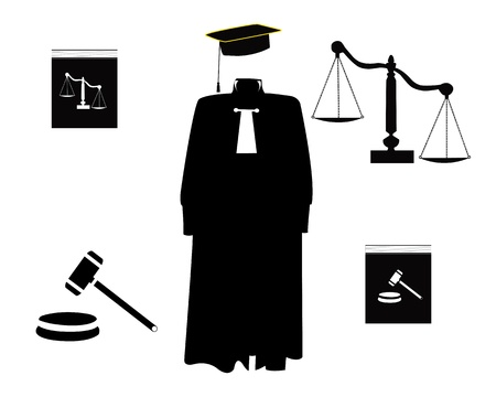 judicial: judicial order items on a white background