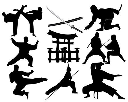 martial arts on a white background
