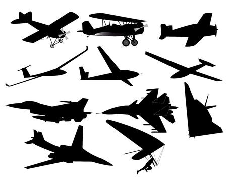 corncob: different planes on a white background