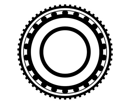 rollers: gear with rollers inside on white background Illustration
