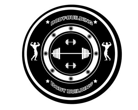 body building: body building sports emblem on a white Illustration
