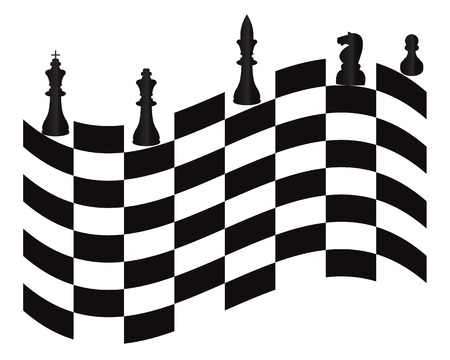tactics: chess pieces on a white