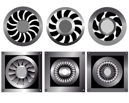 cool down: seis ventiladores para enfriar sobre un fondo blanco