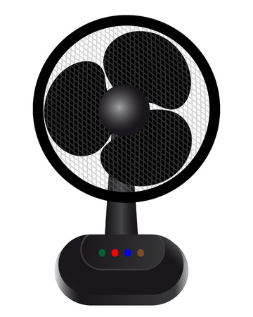 fan for cooling the air on a white background Vector