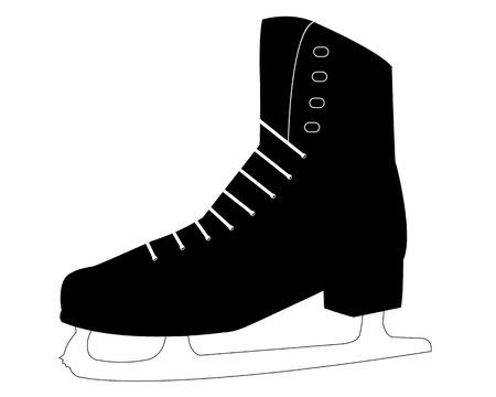 one skate for the skater on white background Illustration
