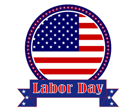 mark Labor Day in America on a white background Illustration