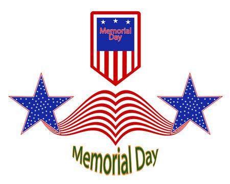 remembrance day: Vacanza Remembrance Day in America su uno sfondo bianco Vettoriali