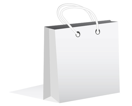 handles: paper bag with handles on a white background