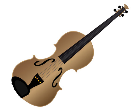 stringed instrument: stringed instrument violin on a white background