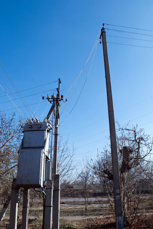 electricity supply: transformer concrete poles for electricity supply
