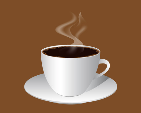 froth: cup of coffee with froth on brown background