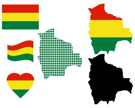 mapa de bolivia: Mapa de Bolivia diferentes tipos y s�mbolos sobre un fondo blanco