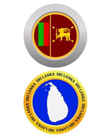 sri: button as a symbol SRI LANKA flag and map on a white background