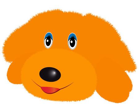 pl�schtier: doggy Pl�schtier gelbe Farbe auf wei�em Hintergrund