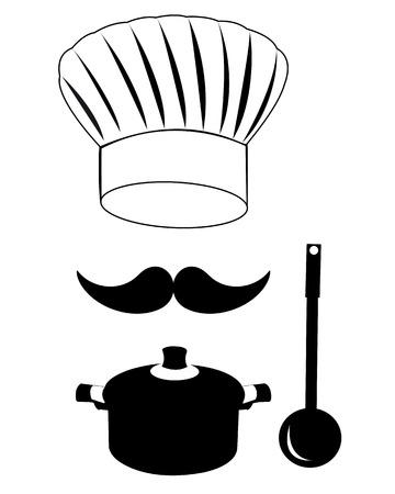 ed: headdress mustache cook pan scoop