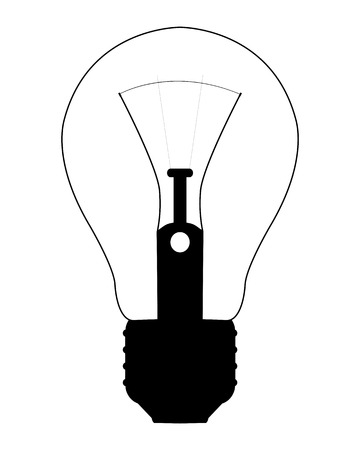 premises: electric bulb to illuminate the premises on a white background