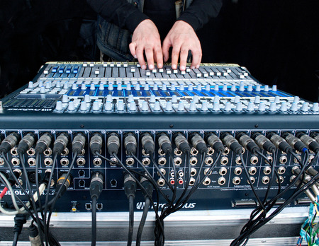 fader: musical equipment operator electro sound of musical instruments