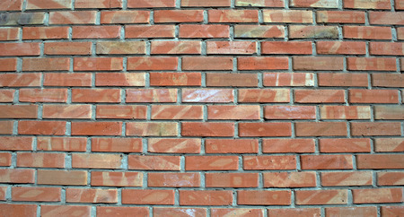 rick: rick wall with red brick and cement seam Stock Photo