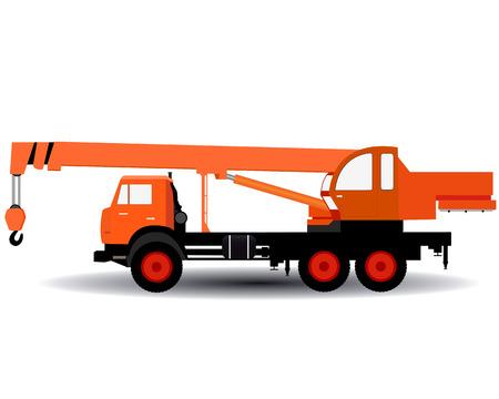 heavy lifting: car yellow crane for lifting heavy loads