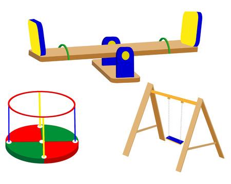 for children: children playground swing carrousel for children