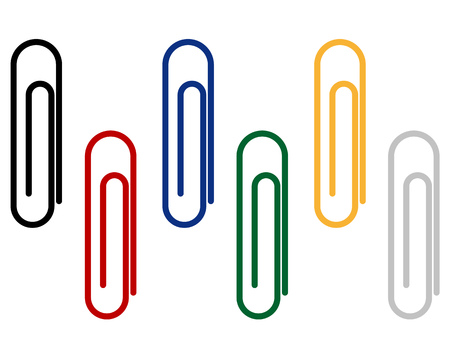 paper clips: Isolated paper clips to attach different documents