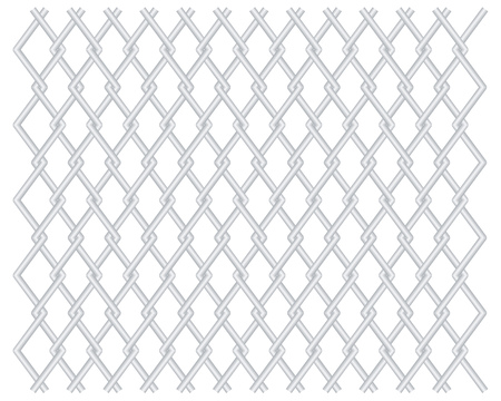 grille: grid grille with a rhomboids backdrop gray in color Illustration