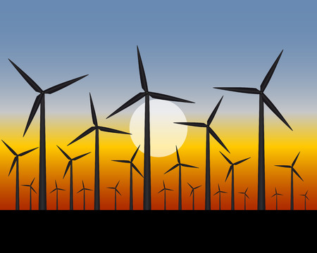 generating: wind turbines for generating a electricity in the field
