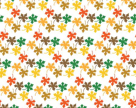 Patroon van esdoornbladeren op een witte achtergrond