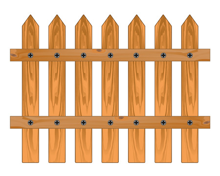 Wooden sharp fence for fencing territory