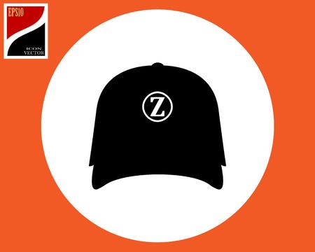 blazer headpiece in a white circle in an orange square
