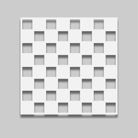 chessboard in a light tone with a shadow on a gray background