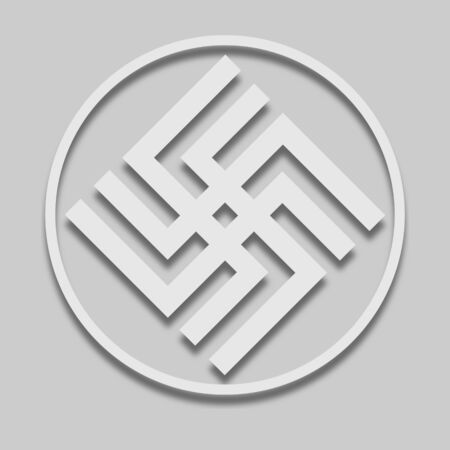 icône de signe slave agni dans un style clair avec ombre sur ton gris