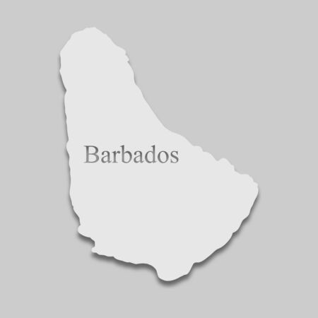 map of Barbados in a bright tone on the gray background Stock Vector - 137845441