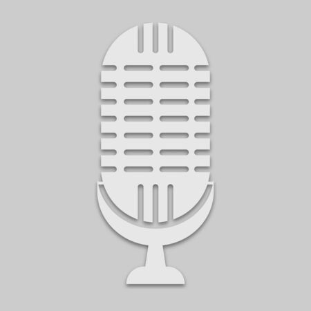 microphone for singing in a light tone on a gray background