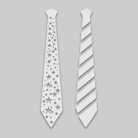 two ties in bright colors with a shadow on a gray background