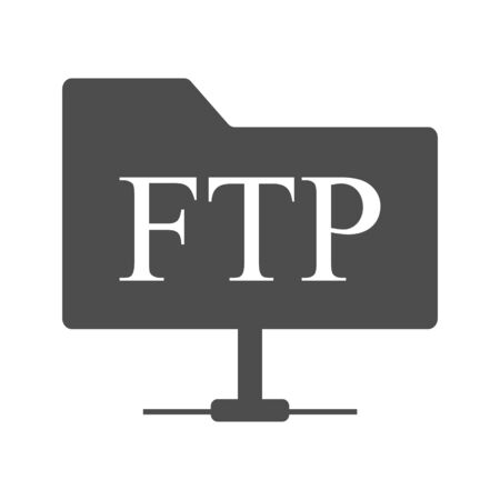 Ftp icon vector images in gray style on a white background
