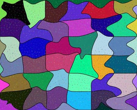 vector background of different colors and shapes
