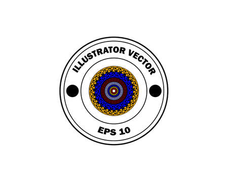 round stamp with the inscription illustrator on a white background