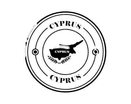 cyprus round blurred stamp with inscription in black tone on white background Illustration
