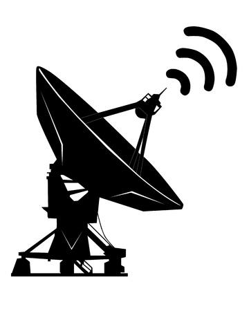 Silhouette noire sur un fond blanc radar Banque d'images - 24187612
