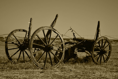 horse cart: historic horse cart in sepia color