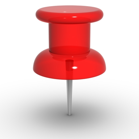 thumbtack: red thumbtack Stock Photo
