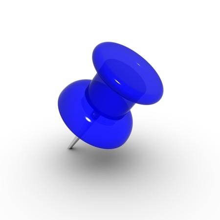 thumbtack: blue thumbtack Stock Photo