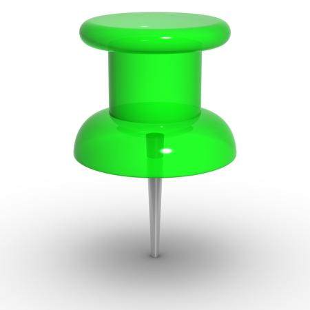 straight pin: green thumbtack