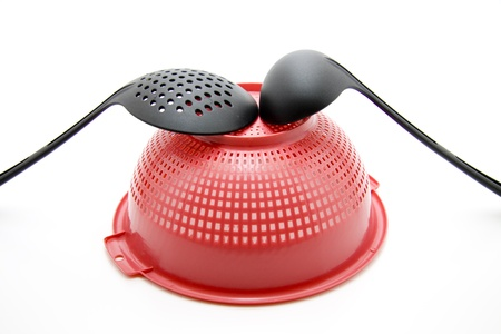 sieve: Sieve with soup ladle