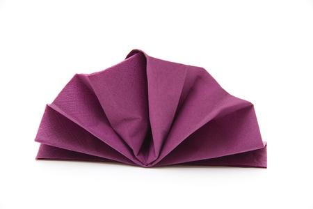 Napkin folded Stock Photo